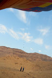 Процесс падения воздушного шара в Луксоре Стоковое Изображение