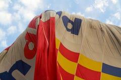 Процесс падения воздушного шара в Луксоре Стоковое Изображение RF