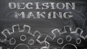 Процесс принятия решений стоковое изображение