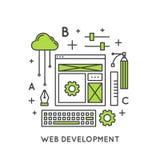Процесс развития интернет-страницы Стоковые Изображения RF