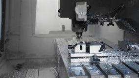 Процесс техника производства metalwork и машины конца формы прессы вверх видеоматериал