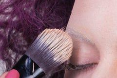 Процесс установки airbrush составляет Стоковая Фотография