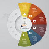 процесс 6 шагов Элемент дизайна конспекта Simple&Editable вектор иллюстрация вектора
