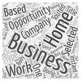 Процесс для выбирать вашу предпосылку вектора концепции облака слова возможности для бизнеса надомного труда Стоковое фото RF