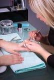 процесс manicure Стоковое Изображение RF