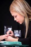 процесс manicure Стоковые Изображения