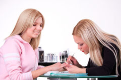 процесс manicure Стоковые Фото