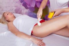 Процедура по массажа вакуума Стоковая Фотография RF