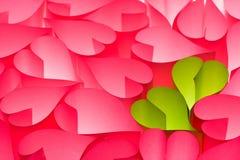 прочешите Валентайн горячего пинка s приветствию дня зеленое Стоковая Фотография