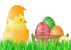 прочешите вектор иллюстрации пасхи цыпленока Стоковые Фотографии RF
