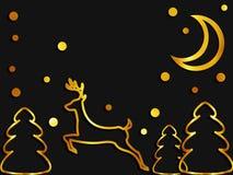 прочешите вектор приветствию градиента рождества шикарной используемый сеткой Стоковая Фотография