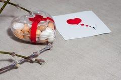 Прочешите день ` s валентинки в скандинавском стиле с пустым космосом fo Стоковые Фотографии RF