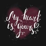 прочешите мое портфолио к гостеприимсву valentines стоковое изображение rf