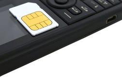 прочешите передвижной телефон sim стоковое изображение rf