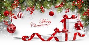 прочешите подарки рождества Стоковые Фотографии RF