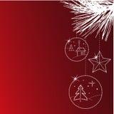 прочешите приветствие рождества Стоковые Фотографии RF