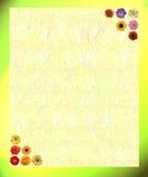 прочешите примечания цветка Стоковая Фотография