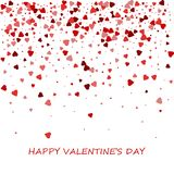 прочешите сердца дня счастливые любя Валентайн s 2 Романтичный состав с confetti сердец Красивая предпосылка с сердцами на белизн Стоковые Фотографии RF