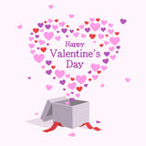 прочешите сердца дня счастливые любя Валентайн s 2 Стоковые Изображения