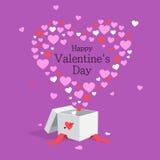 прочешите сердца дня счастливые любя Валентайн s 2 Стоковое Изображение RF