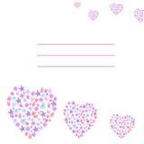 Прочешите с сердцами цветков Стоковая Фотография RF