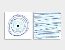 Прочешите фронт и задняя часть с голубым вектором дурного глаза Стоковая Фотография