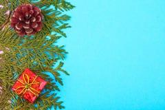 Прочешите шаблон для рождества с местом для текста Стоковые Фото