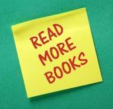 Прочитайте больше напоминания книг Стоковые Фотографии RF