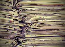 Прочитайте газеты готовые для бумажных используемых процессоров продукции Стоковые Изображения