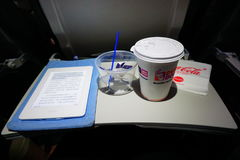 Прочитанный разожгите в самолете Стоковое Изображение
