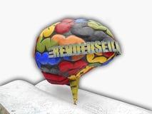 Прочитанный сделайте умный мозг стоковые фото