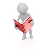 прочитанный человек книги Стоковые Фотографии RF