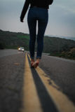 прочь гуляющ стоковые фотографии rf