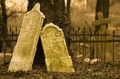 прошлый кладбища запустелое Стоковые Изображения RF