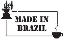 Проштемпелюйте отпечаток для индустрии кофе, сделанный в Бразилии иллюстрация штока