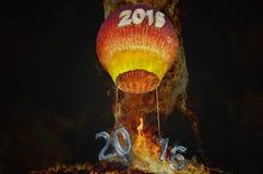 Прощание до 2015 Добро пожаловать 2016 Стоковые Фотографии RF