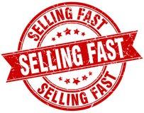 Продавать быстрый круглый штемпель grunge иллюстрация вектора