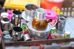 Продавать кофе на шлюпке Стоковая Фотография RF