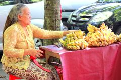 Продавец банана стоковые фото