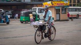 Продавец билетов лотереи Стоковые Фото