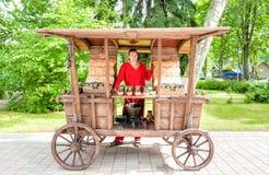 Продавец конфеты Стоковое Фото