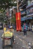 Продавец плодоовощ в Сайгоне Стоковые Изображения