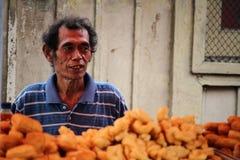 Продавец рынка плодоовощ в Индонезии Стоковая Фотография RF