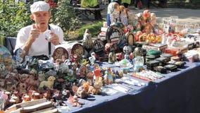 Продавец сувениров стоковая фотография rf