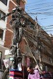 Продавец улицы шерстей pashmina, Кашмира и яков tectile Стоковые Фото