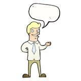 продавец шаржа с пузырем речи бесплатная иллюстрация