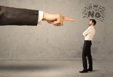Продавец beginner руки босса направляя Стоковые Изображения RF