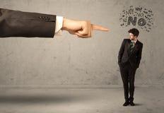 Продавец beginner руки босса направляя Стоковая Фотография RF