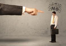 Продавец beginner руки босса направляя Стоковое Изображение RF