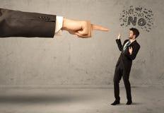 Продавец beginner руки босса направляя Стоковое фото RF